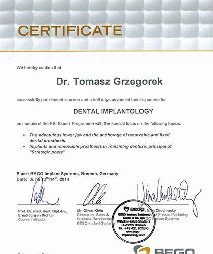 certyfikat Impla 06