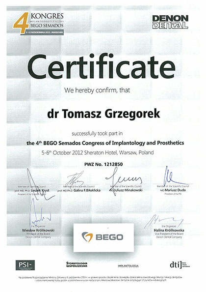 certyfikat Impla 08