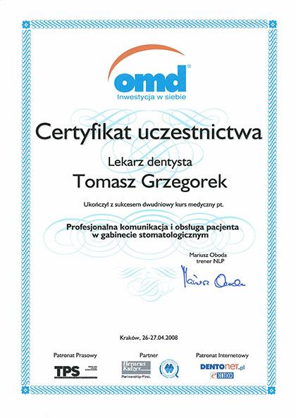 certyfikat Impla 13