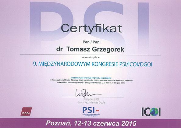 certyfikat Impla 16