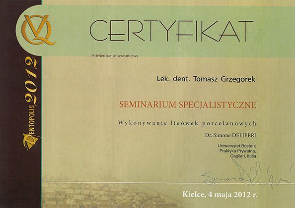 certyfikat Impla 22