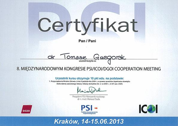certyfikat Impla 26